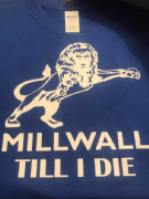 MILLWALL TILL I DIE T-SHIRT LION (Blue)